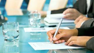 ビジネス契約サイン外人署名
