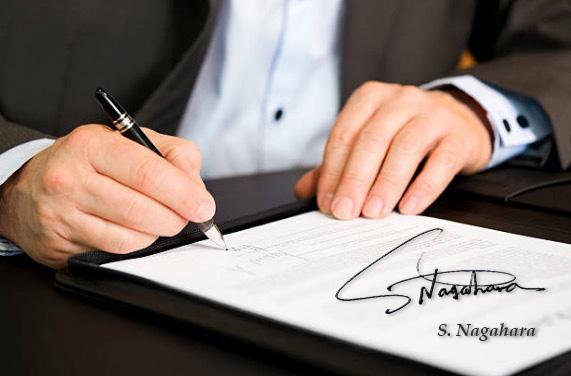 英語、英字サインの書き方、外人風サインの作り方