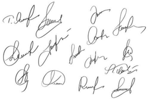 海外の格上げ直筆サインの書き方と作成方法