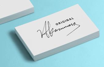 ブランドロゴ名刺作成でサインを使う