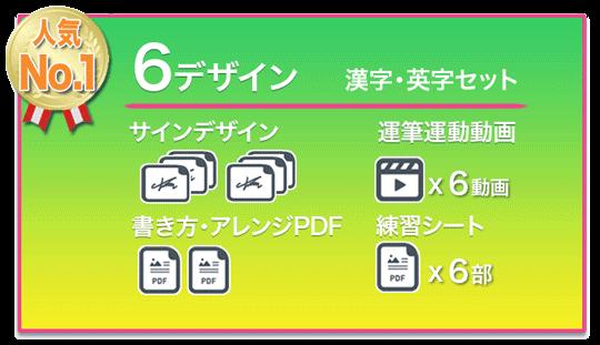サイン作成の価格表6デザイン練習キット+著作権譲渡